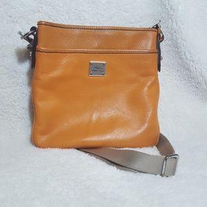 Lauren Ralph Lauren Orange Leather Crossbody